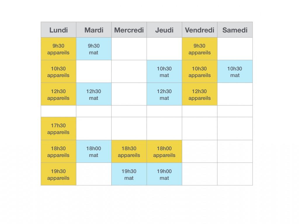 Tbleau planning keynote +samedi